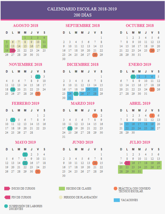 Calendario Escolar 2020 Sep Cdmx.Estos Son Los Puentes Y Dias De Asueto Para El Ciclo 2018 2019