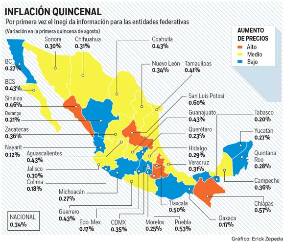 Inflación de México llega a 4,81% en primera mitad de agosto_Spanish