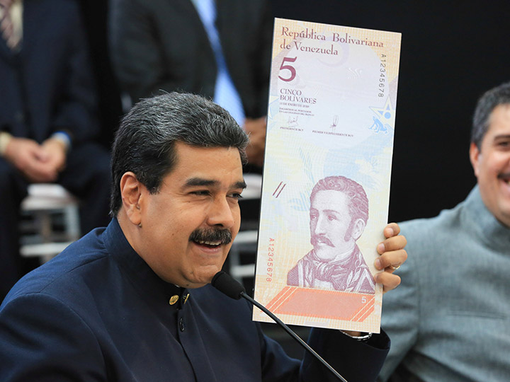 Maduro le quita tres ceros a la moneda venezolana