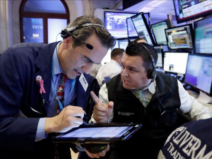 El promedio industrial Dow Jones caía 4.96 puntos. Foto: Archivo