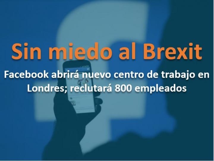 Convierte a Londres en el mayor centro de ingeniería de Facebook fuera de Estados Unidos. Foto: Archivo