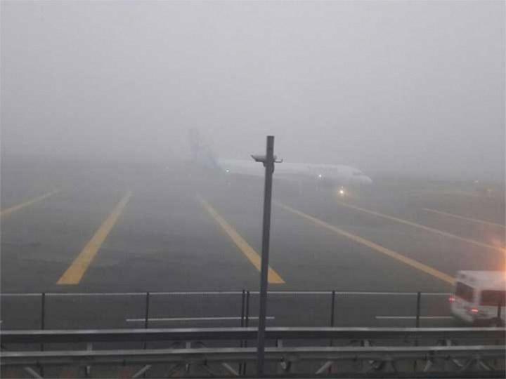 Suspenden por mal tiempo vuelos en el AICM