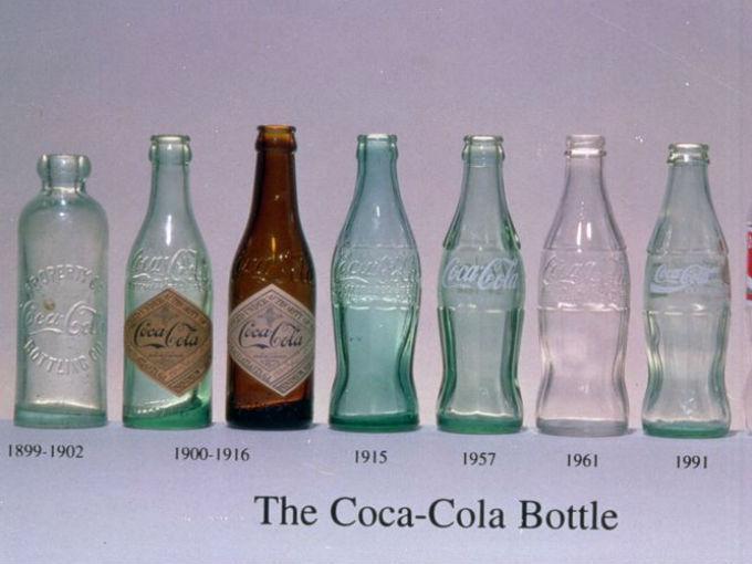 Las Botellas De Coca Cola A Través De Los Años