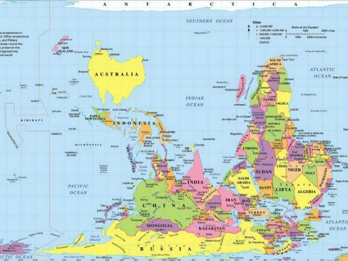 Todos Los Mapas Que Conoces Estan Mal Y Esta Es La Razon