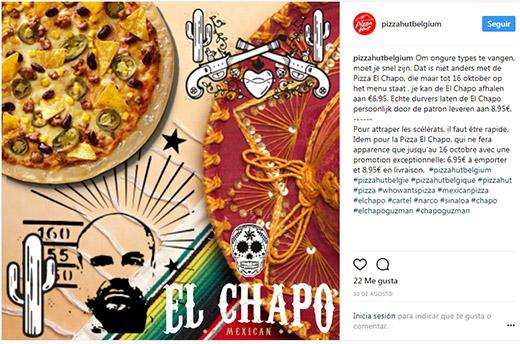¡No es broma! 'El Chapo' tiene su pizza en Bélgica