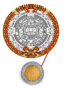 cinco pesos piedra sol