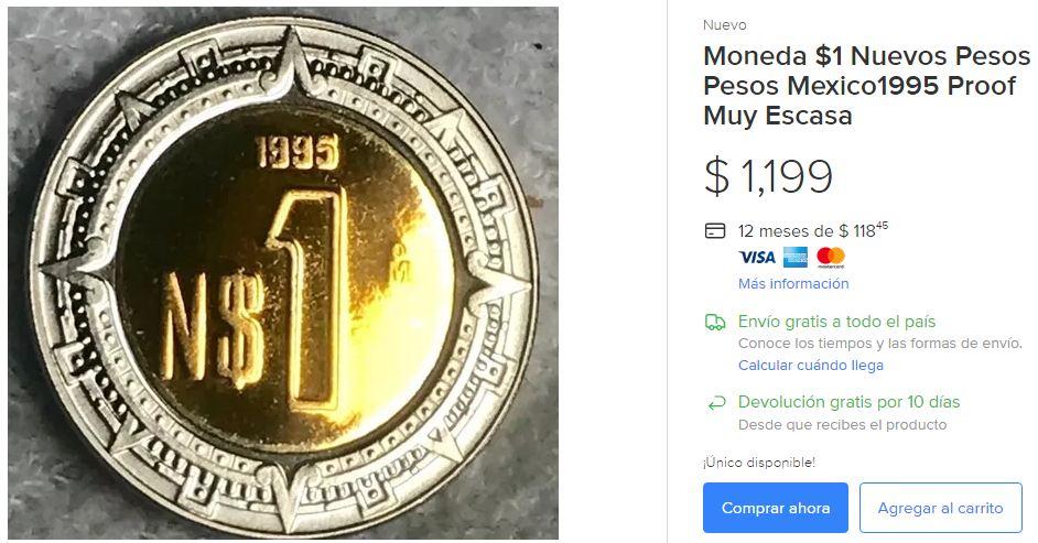 Moneda 1 Nuevo Peso Escasa