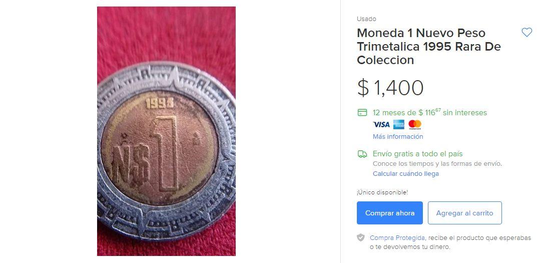 Moneda 1 Nuevo Peso
