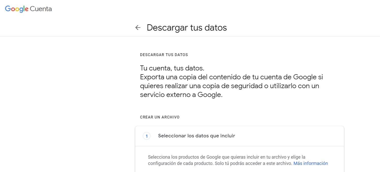 obtener datos de google personales