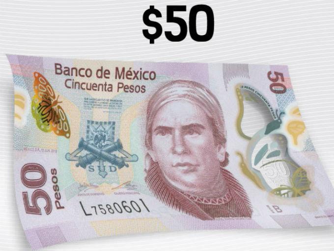 el nuevo billete añade elementos de seguridad, al ser este billete uno de los más falsificados. Foto: Banxico.