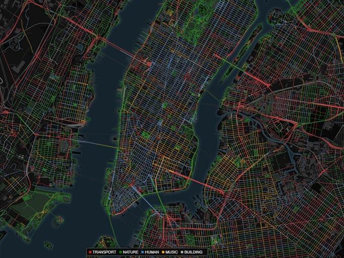 Estos mapas muestran cómo suenan 12 ciudades del mundo