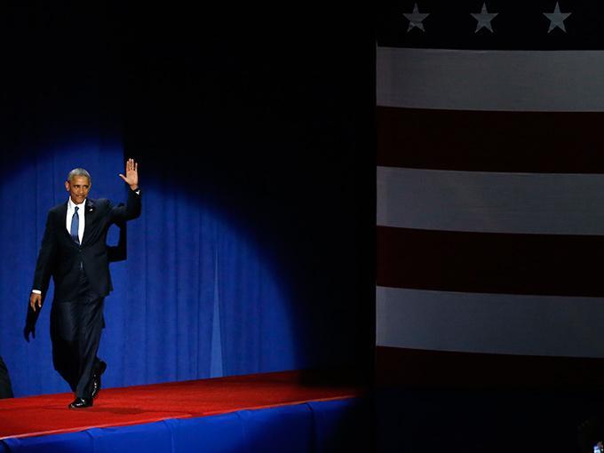 Barack Obama ofrece su discurso de despedida en Chicago