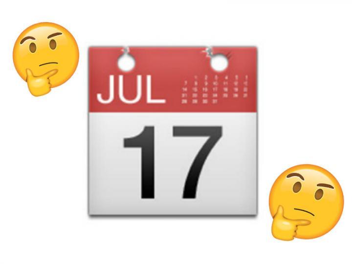Emoji Del Calendario.El Motivo Por El Que El Emoji De Calendario Marca El Dia 17