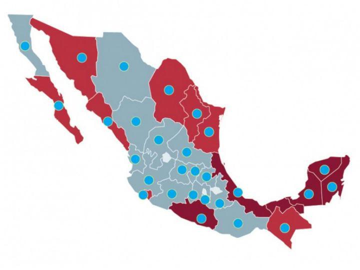 Este mapa indica cómo avanza el virus del dengue en México