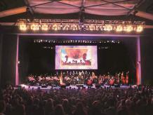 Zelda con sinfónica. The Greek Theater reunió hace unos días a fanáticos del juego y su música. Fotos: Cortesía