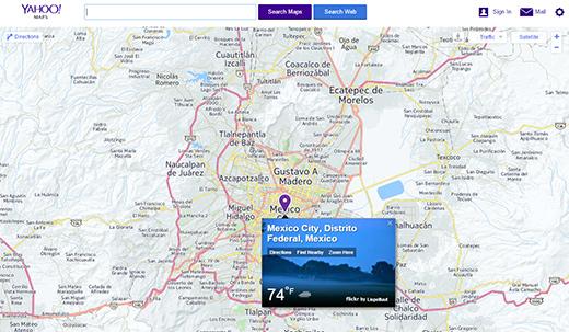 Deciden cerrar 'Yahoo maps' y otros servicios | DineroenImagen on google search mexico, money mexico, bing maps mexico, world atlas mexico, google earth mexico, driving directions mexico, google maps mexico, fedex mexico, mapquest mexico,